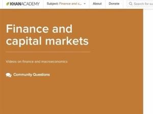 2. Finance at Khan Academy