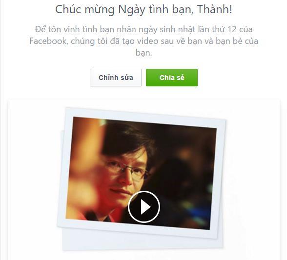Bước 1: Xem video Facebook tạo sẵn