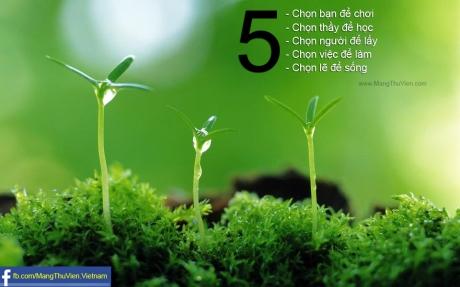 5 lựa chọn quan trọng trong cuộc sống