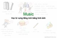 Học từ vựng tiếng Anh bằng hình ảnh: The Music