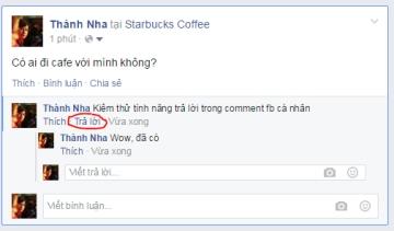 Cách mở nút Trả lời trong bình luận của Facebook cá nhân
